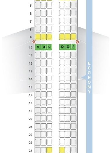 Seat Map and Seating Chart Airbus A319 100 Croatia Airlines
