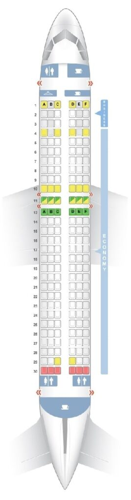 Seat Map and Seating Chart Airbus A320 200 Croatia Airlines