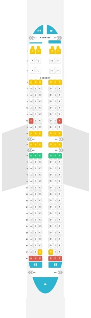 Seat Map and Seating Chart Boeing 737 800 V2 flydubai