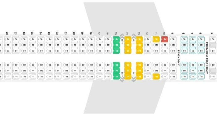 Seat Map and Seating Chart Boeing 737 MAX 8 LOT Polish Airlines