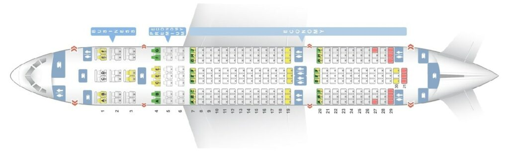 Seat Map and Seating Chart Boeing 787 8 Dreamliner LOT Polish Airlines