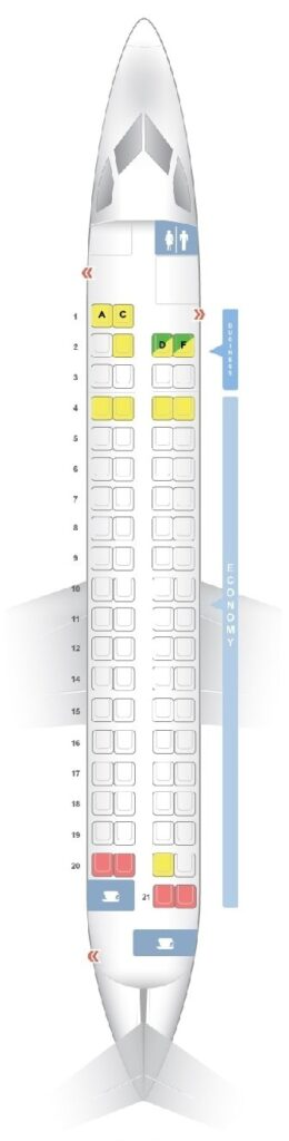 Seat Map and Seating Chart Bombardier Dash 8 Q400 Croatia Airlines