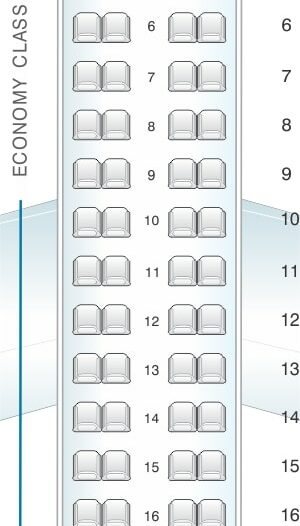 Seat Map and Seating Chart Bombardier Dash 8 Q400 LOT Polish Airlines