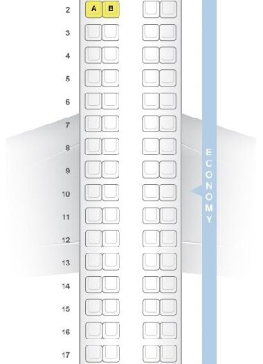 Seat Map and Seating Chart Embraer ERJ 170 LOT Polish Airlines