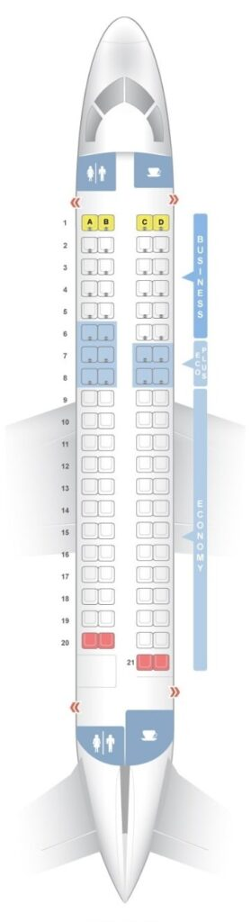 Seat Map and Seating Chart Embraer ERJ 175 LOT Polish Airlines