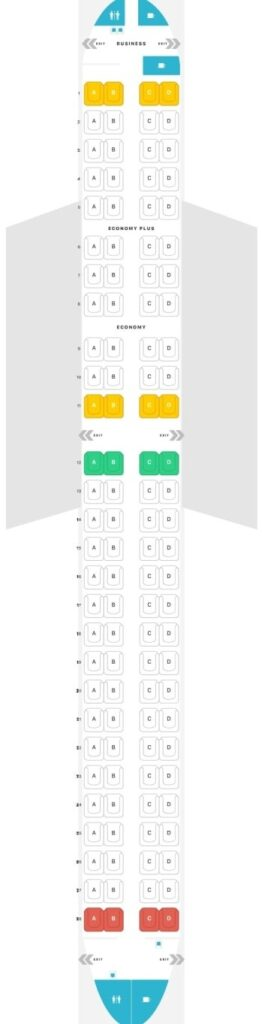 Seat Map and Seating Chart Embraer ERJ 190 195 LOT Polish Airlines