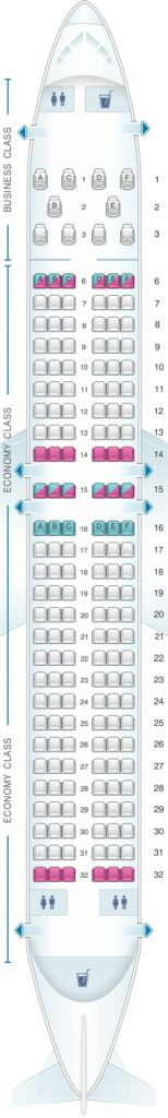 Seat Map and Seating Chart flydubai Boeing 737 MAX 8