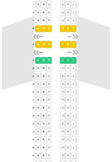Seat Map and Seating Chart Airbus A320 200ceo LATAM