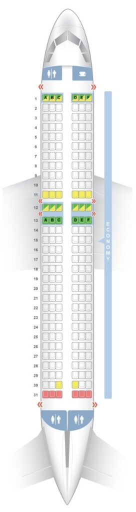 Seat Map and Seating Chart Airbus A320neo EasyJet