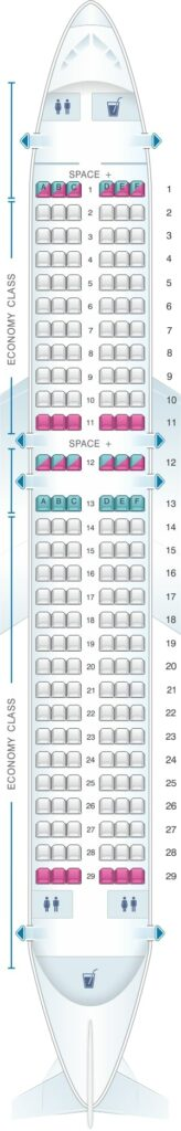 Seat Map and Seating Chart Airbus A320neo LATAM