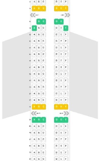 Seat Map and Seating Chart Airbus A321 200 LATAM