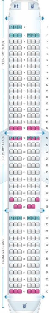 Seat Map and Seating Chart Airbus A321neo EasyJet