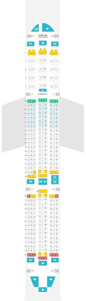 Seat Map and Seating Chart Airbus A350 900 LATAM