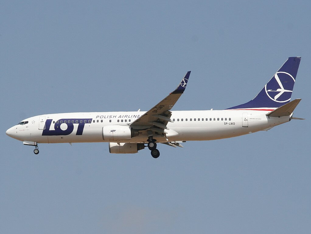 LOT Polish Airlines Boeing 737 800 SP LWD at Ben Gurion International Airport TLV