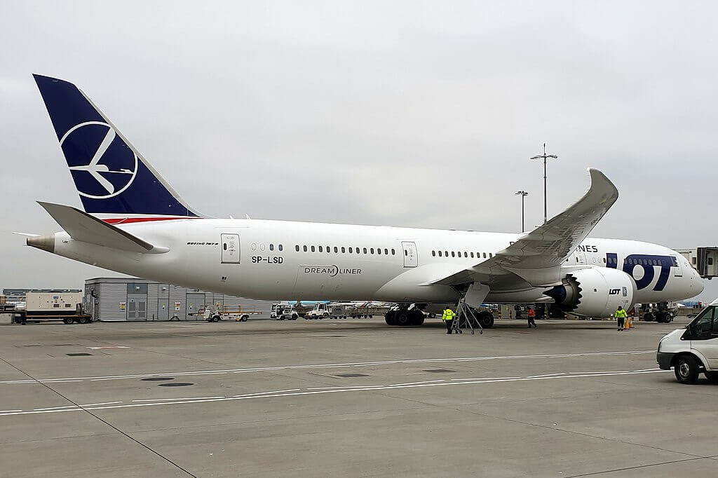 LOT Polish Airlines SP LSD Boeing 787 9 Dreamliner at London Heathrow Airport