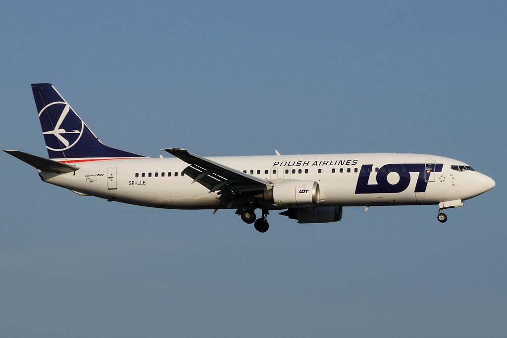 SP LLE Boeing 737 45D LOT Polish Airlines at Fuesseldorf International Airpoer DUS