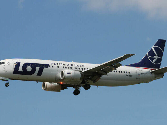 SP LLF Boeing 737 45D LOT Polish Airlines at London Heathrow Airport