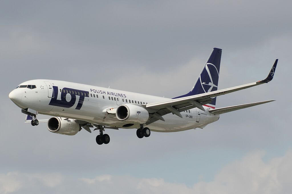 SP LWA Boeing 737 89P LOT Polish Airlines at London Heathrow Airport