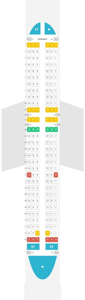 Seat Map and Seating Chart Airbus A320 200 Wizz Air