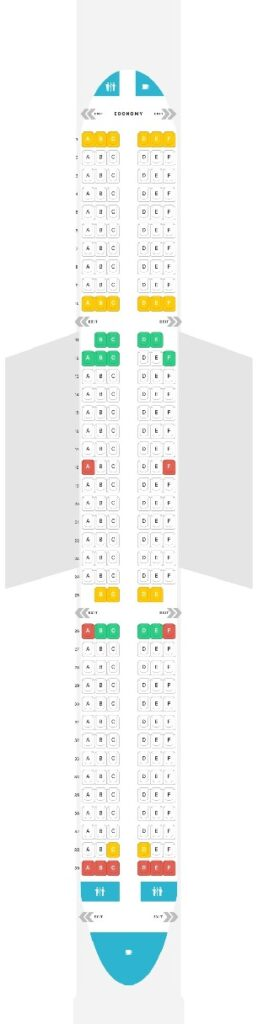 Seat Map and Seating Chart Airbus A321ceo neo Wizz Air