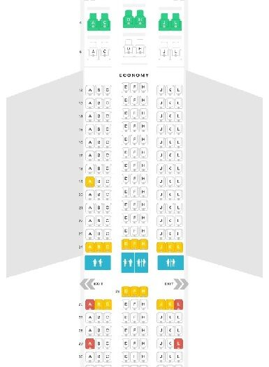 Seat Map and Seating Chart Boeing 787 8 Dreamliner LATAM