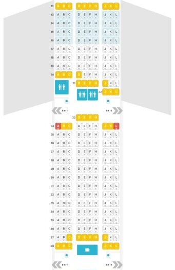 Seat Map and Seating Chart LATAM Boeing 777 300ER