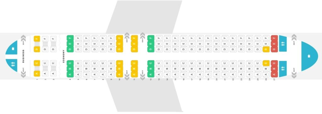 Seat Map and Seating Chart Airbus A320 200 V1 Air Malta