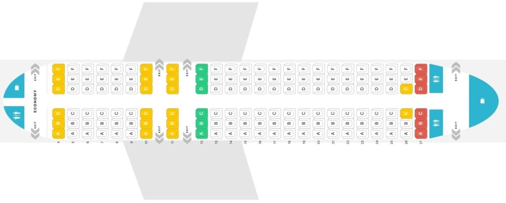 Seat Map and Seating Chart Airbus A320 200 V2 Air Malta