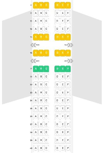 Seat Map and Seating Chart Airbus A320neo Air Astana