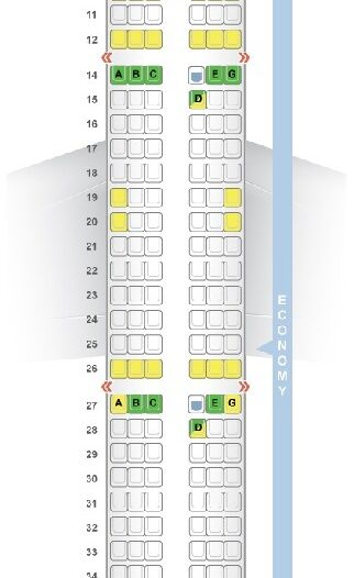 Seat Map and Seating Chart Airbus A321ceo neo V1 176 Seats Vietnam Airlines