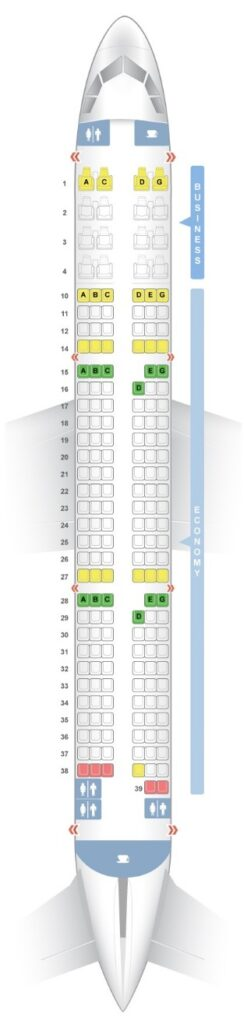Seat Map and Seating Chart Airbus A321ceo neo V2 184 Seats Vietnam Airlines