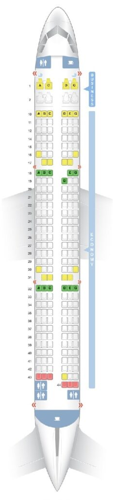 Seat Map and Seating Chart Airbus A321ceo neo V3 204 Seats Vietnam Airlines