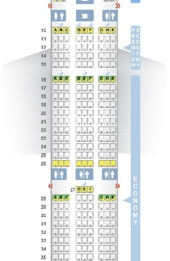 Seat Map and Seating Chart Airbus A350 900 V1 Vietnam Airlines