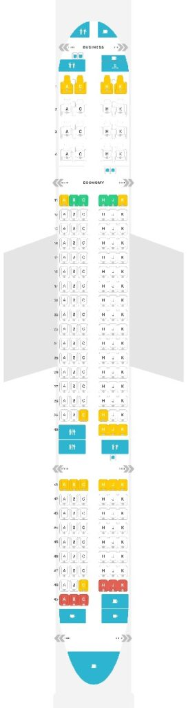 Seat Map and Seating Chart Boeing 757 200 Air Astana