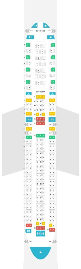 Seat Map and Seating Chart Boeing 767 300ER Air Astana