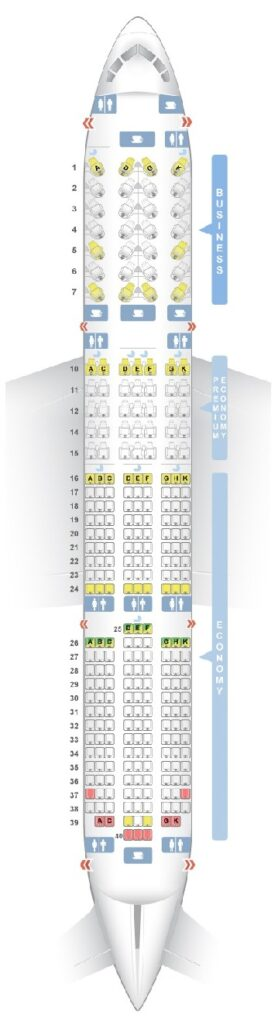 Seat Map and Seating Chart Boeing 787 9 Dreamliner V1 Vietnam Airlines
