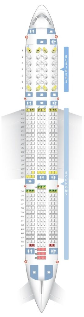 Seat Map and Seating Chart Boeing 787 9 Dreamliner V2 Vietnam Airlines