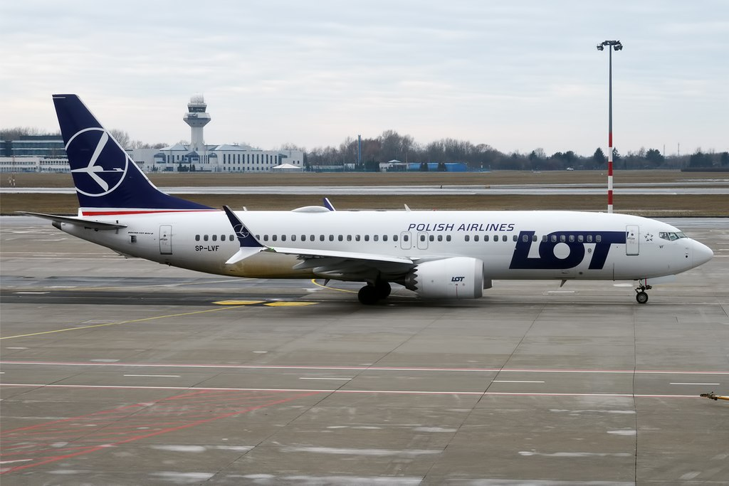 LOT Polish Airlines SP LVF Boeing 737 MAX 8 at Warsaw Frederic Chopin Airport