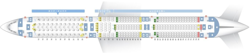 Seat Map and Seating Chart Airbus A350 1000 Cathay Pacific