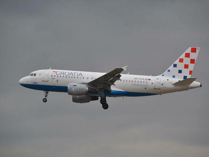 9A CTG Airbus A319 100 Croatia Airlines at Frankfurt Airport