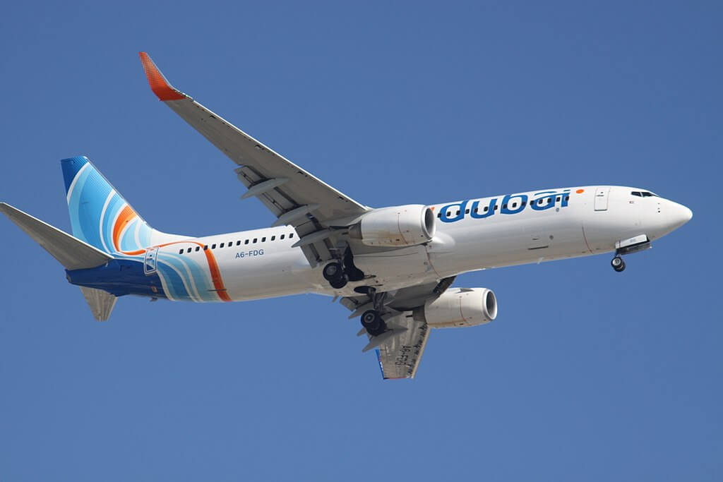 A6 FDG Boeing 737 800 FlyDubai at Dubai International Airport