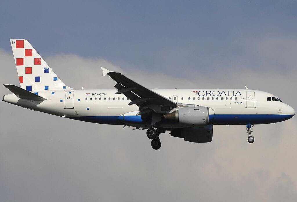 Airbus A319 112 Croatia Airlines 9A CTH at Fiumicino Airport