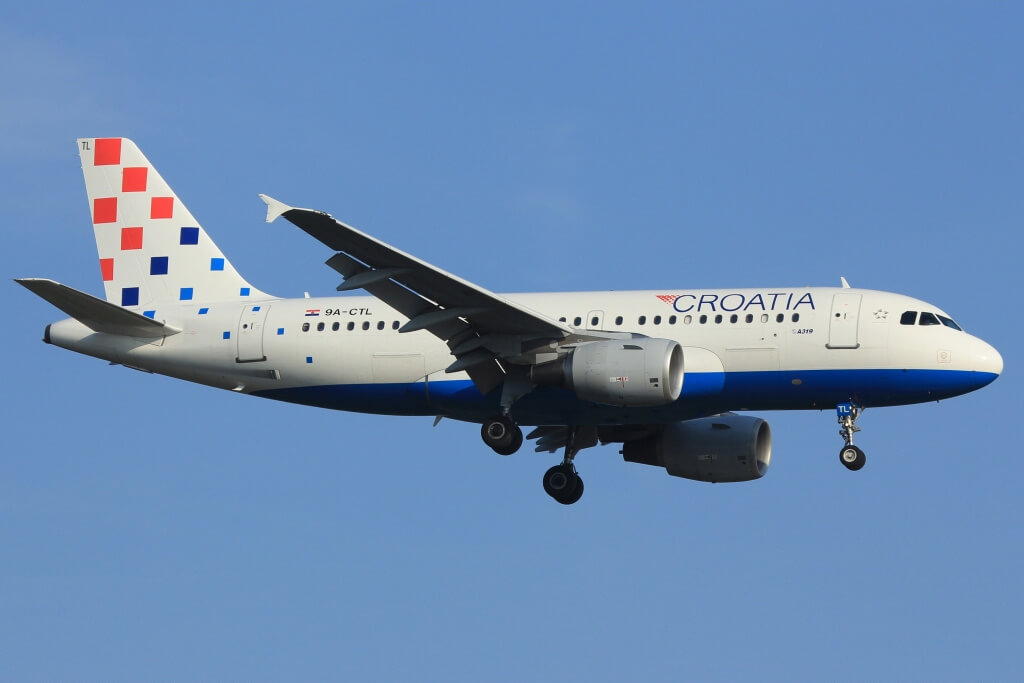 Airbus A319 112 Croatia Airlines 9A CTL at Frankfurt Airport