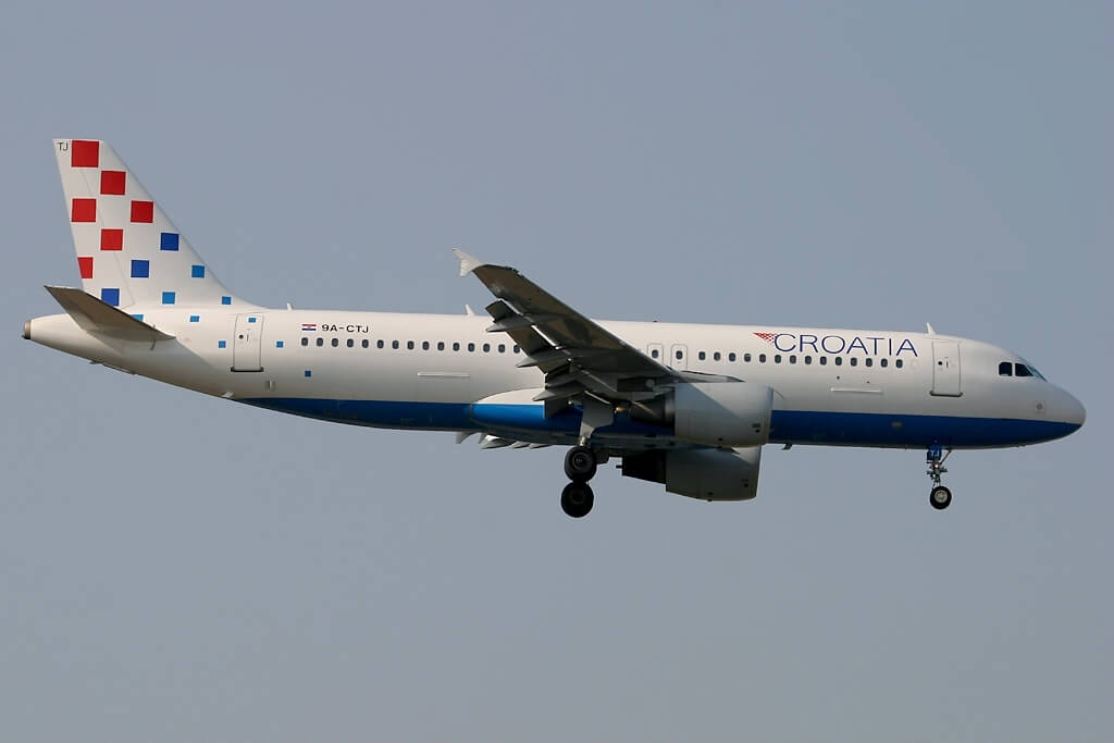 Airbus A320 214 Croatia Airlines 9A CTJ at Frankfurt Airport