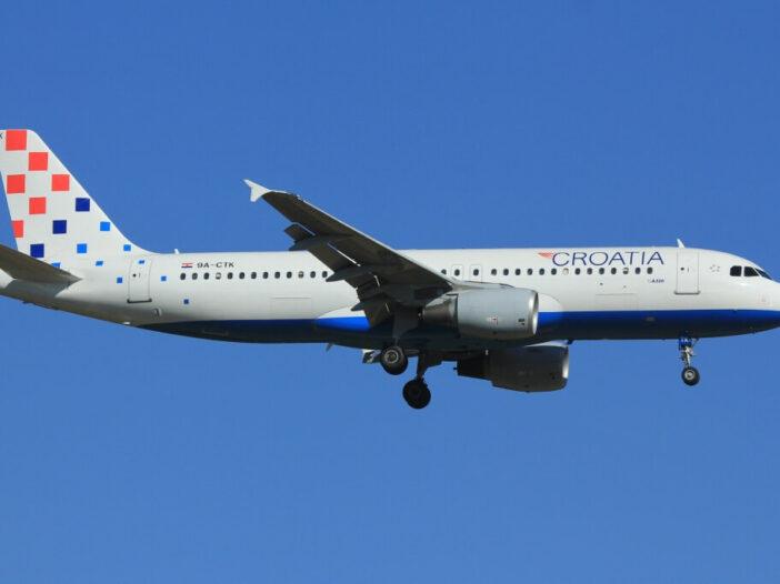 Airbus A320 214 Croatia Airlines 9A CTK at Frankfurt Airport