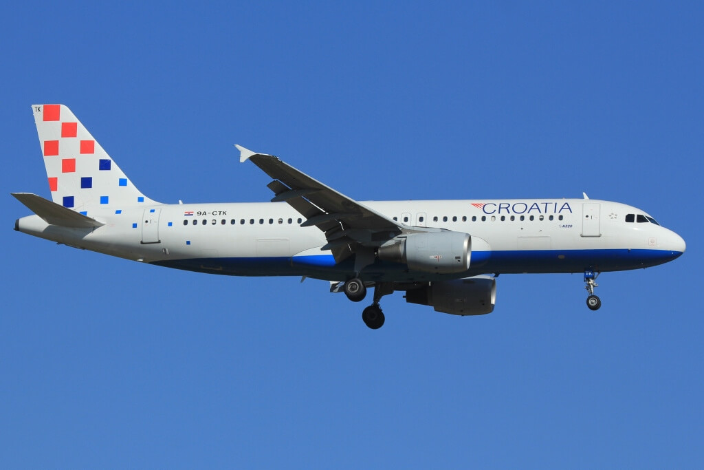 Airbus A320 214 Croatia Airlines 9A CTK at Frankfurt Airport