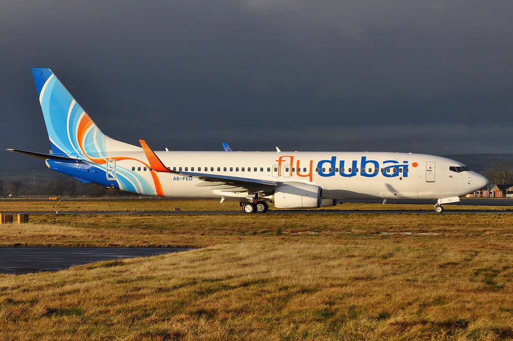 Boeing 737 800 FlyDubai A6 FED