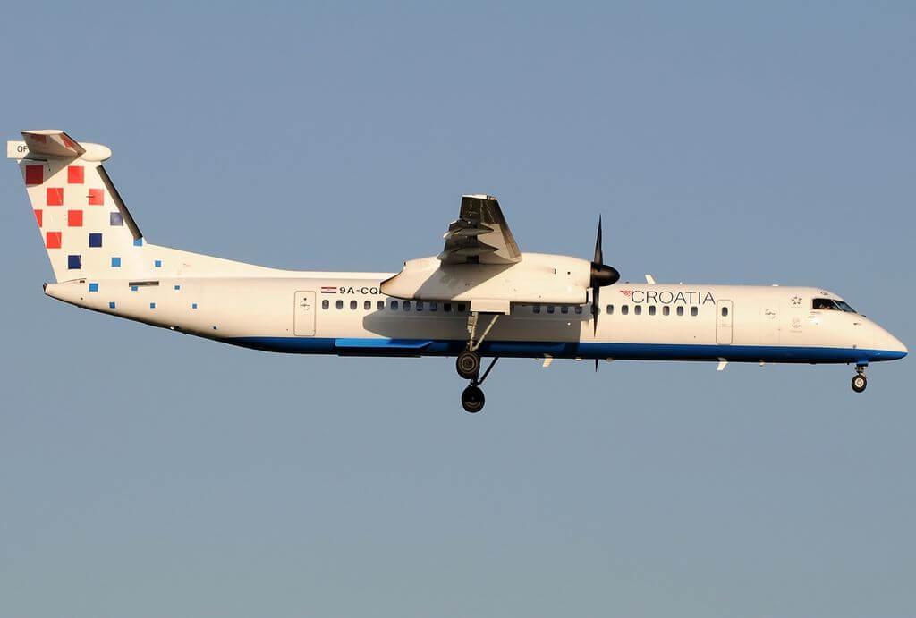 Bombardier Dash 8 Q402NextGen Croatia Airlines 9A CQF at Fiumicino Airport