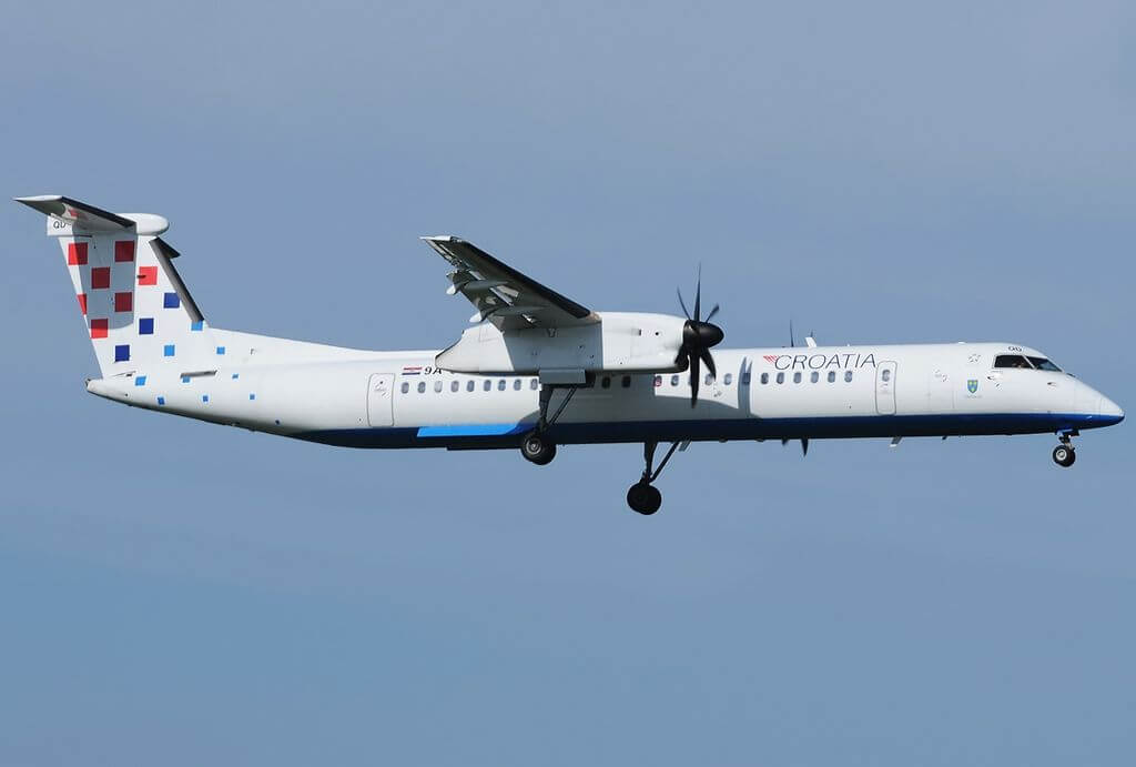 Croatia Airlines 9A CQD Bombardier Dash 8 402Q at Fiumicino Airport
