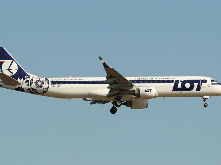Embraer 190 200LR LOT Polish Airlines SP LNC at Frankfurt Airport